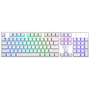 Z88 z88rgb RGB Mechanische Tastatur blau red switches, White