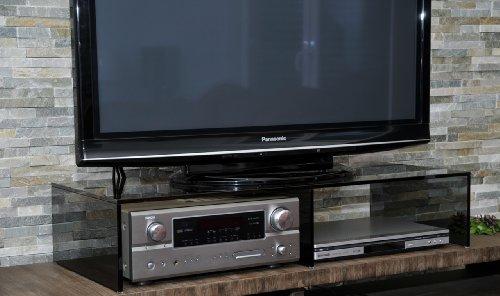 TV-Board, TV-Aufsatz PONTE 2 HÖHEN 4 GLASSORTEN 100 cm BREIT, TV-Bank, TV-Rack, Fernseher-Tisch, Erhöhung, Monitor Ständer, Monitorerhöhung, Bildschirmständer, Podest, Tischständer, Regal, Glasaufsatz, - 2 Regal Breit Tv-ständer