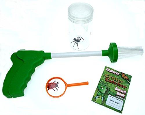 Preisvergleich Produktbild Insektenforscher - Set / Spinnenfänger / Insektenfänger / Spider - Catcher mit viel Zubehör - Fangbox - Lupe - Trainings - Spinne und Trainings - Käfer aus Kunststoff , inkl. Heft zum Aufzeichnen der Fang - Erfolge - die beste und tierfreundlichste Art, alle möglichen Insekten zu fangen und zu studieren - NEU (Insektenforscher - Set)