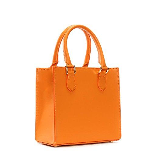 Daniel In pelle arancione piccolo Muddler strutturata Tote Bag Orange Leather