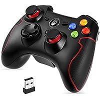 Easysmx wireless 2.4G di gioco supporto per PC (Windows XP/7/8/8.1/10), Vista, PS3, Android TV Box Portable Gaming joystick Handle
