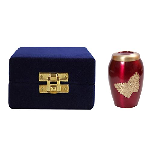 Memorial Messing Urns, Lovely Golden fliegenden Schmetterling pink Urne für Asche - 4