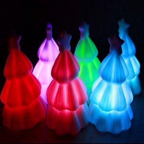 Navidad Pequeño regalo del árbol de navidad colorido Pequeño Noche Lámparas Luz.