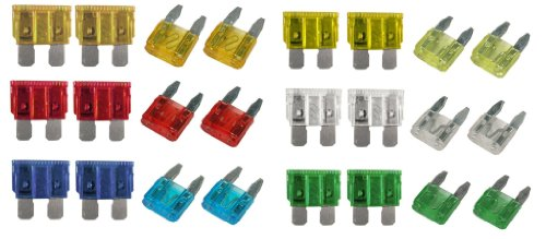 xtremeautoar-24piecekit-153-car-blade-fuse-replacement-mini-standard-fuse-box-kit-5-10-15-20-25-30-a