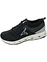 Tracer Men's Black Synthetic Running Shoes