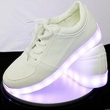 Zapatilla Deportiva LED blanca (38)