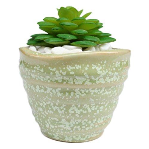 Westeng Einfache keramische Art Mini Pot Sukkulenten Pflanzen Container Balkon Handwerk Home Dekor