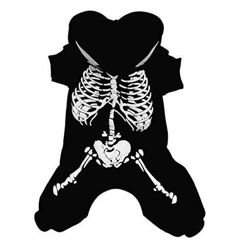 Kostüm Mittel - Halloween Haustier Hund/Katze Print Kleidung Haustierkleidung Kostüme Bekleidung Hawkimin Hundepullover Herbst Winter Hundekleidung Warm Katze Drucken für Kleine Mittel Hunde