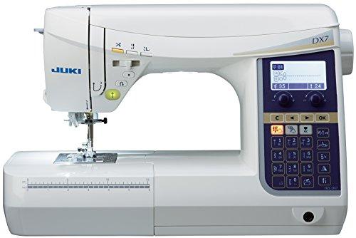 JUKI máquina de Coser electrónica con cortaalambres automático commandé con Pedal, Metal, Color Blanco, 51x 25,7x 30,5cm