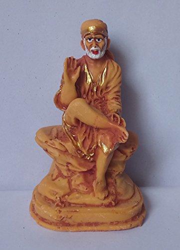 Atharv Enterprises Lord Sai Baba Car Dashboard Idol God Shri Sai Nath Statue Shirdi Sai Decorative Spiritual Puja Vastu Showpiece Figurine - Religious Pooja Gift Item for Mandir / Home-10x6x4 Cm  available at amazon for Rs.149
