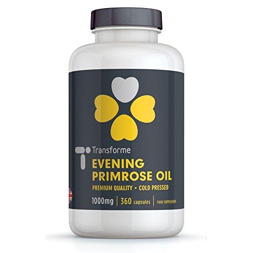 Evening Primrose Oil 1000mg - 360 Capsules - Cold Pressed - Transforme Test