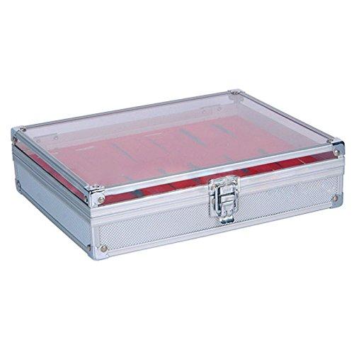 st Rot 12 Grid Slots Uhren Display Aufbewahrungsbox Aluminium Quadrat Organizer ()