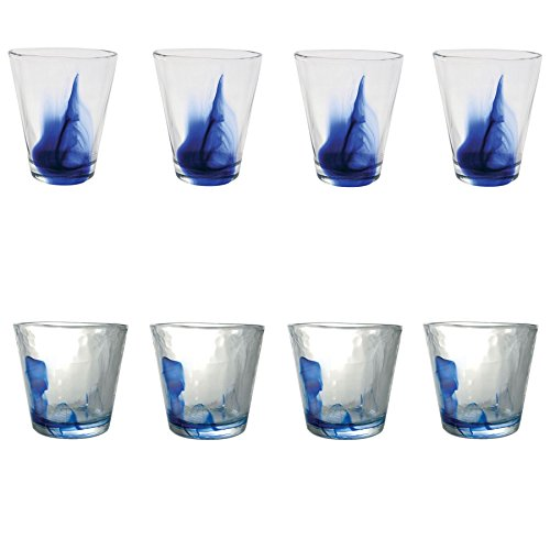 Murano Wasser/Saft Gläser Becher - 270 ml / 430ml - 8er-Set Bormioli Rocco Murano