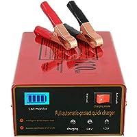 12V/24V Chargeur de batterie pour voiture intelligent automatique Mainteneur, au Lithium, Plomb Acide batterie, 140W 6Ah…