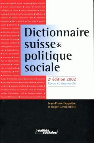 Dictionnaire suisse de politique sociale