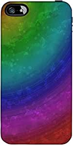 Snoogg Wave Rainbow 2403 Designer Protective Back Case Cover Forapple Iphone ...