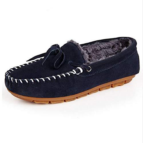 ZYPINGPAI StivaliLe Scarpe delle Donne Calde del Cotone della Pelliccia  delle Scarpe Calzano I Pattini Piani 2633f77776d
