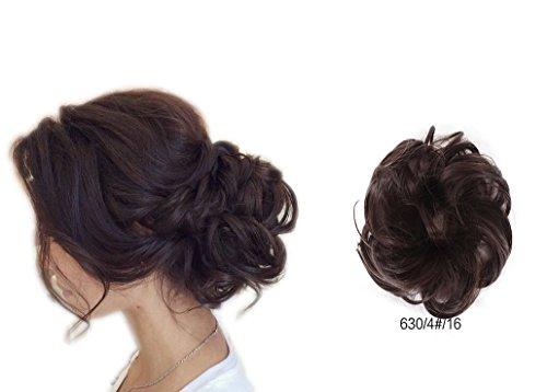ShowPower Haargummi Haarteil hairpiece Haarverdichtung Zopf Haarband Haarschmuck dunkel braun schokolade BUN-630/4#/16