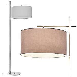 [lux.pro] Stehleuchte - London - (1 x E27 Sockel)(175 cm x Ø 46 cm) Stehlampe Fußbodenlampe Zimmerlampe Wohnzimmerlampe