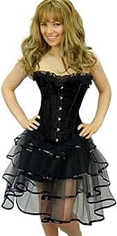 Yummy Bee Rüschen Tutu Rock Burleske Karneval Fasching Kostüm Damen Größe 34  ... a10de4f4fd