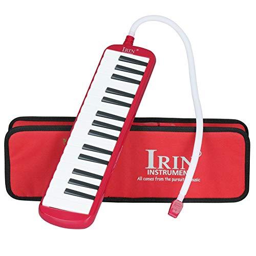 Kayool 32 Keys Melodica, Melodica mit Mundstück Musikinstrument für Musikliebhaber Anfänger mit Tragetasche Melodica (Rot)