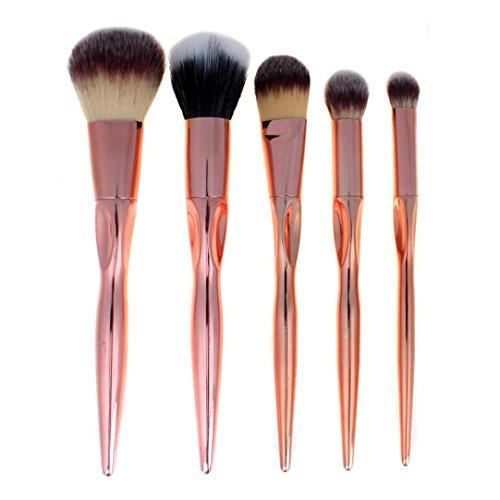 Preisvergleich Produktbild  Loveso -Make up Pinsel 5 PCS-kosmetische Verfassungs-Bürsten-Verfassungs-Bürsten-Lidschatten Pinsel