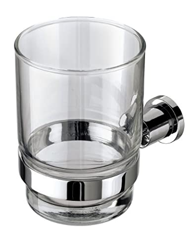 VELMA - 241058 - Exquisite toothbrush holder from our Pedula range - classic timeless design - highly polished chrome-plated brass and hardened glass - no plastic - premium quality!