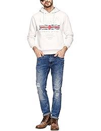 Octave Mens Hooded Printed Sweatshirt