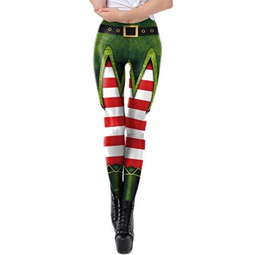 FELZ Leggins Mujer Fitness Push Up Cintura Alta, ImpresióN De Navidad Mujer Pantalones De Yoga Leggings Gimnasio Deportes Pantalones De Ejercicios Al Aire Libre Suaves Pilates Pantalones