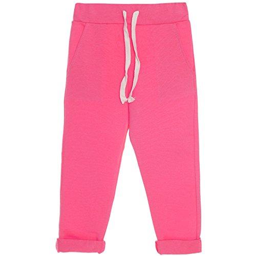 BEZLIT Mädchen Kinder Stoff Jogging Sport Hose Trainings Freizeit Leggings 21206 Pink Größe 104
