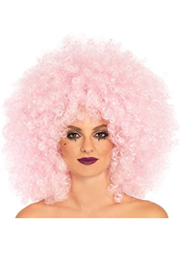 Womens Deluxe 70s Pink Afro Perücke (Afro Perücke Deluxe)