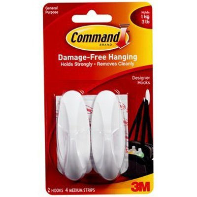 Command Designer Medium Hooks, Pack of 2 -