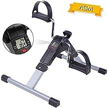 AGM Pedaleador, Pedales Estaticos Plegable, Mini Bicicleta Estáticas Ajustable, Bicicleta de Ejercicios Entrenamiento
