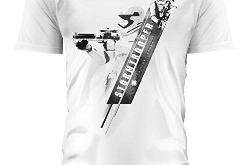 SD toys - T-Shirt - Star Wars Episode 7- Homme Stormtrooper Blaster Blanc Taille L - 8436546898726