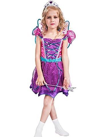 Fantast Costumes enfant costumes avec des ailes printemps céleste(Violet, Medium)