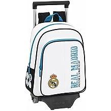 Safta - Mochila Infantil, Real Madrid con Carro, 34 cm, Multicolor