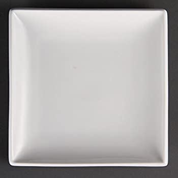 Olympia u154 Whiteware Assiette carrée, blanc (Lot de 12)