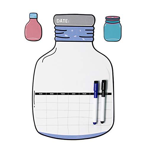 STOBOK Dry Erase Monatskalender,Flaschenform Magnetic Kühlschrank Kalender Aufkleber Startseite Schreiben Message Board Erinnern Notizblock (Dry Erase-kalender Aufkleber)