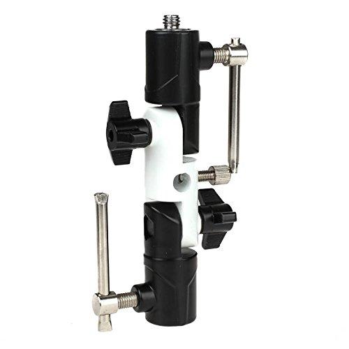 Quenox Doppelgelenk-Neiger (Blitzneiger, Schirmneiger) für Blitze und anderes Zubehör an Lampenstativ oder Kamerastativ