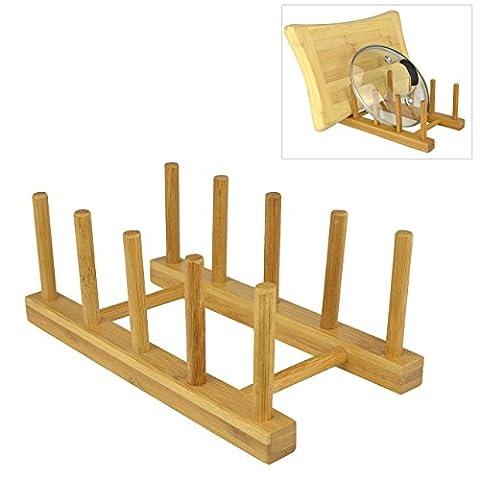 Assiettes en bois Eco Friendly Bambou/casseroles/poêles/cups Égouttoir à vaisselle de
