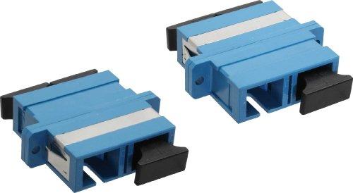 InLine 89992S LWL Kupplung (Duplex SC Stecker auf SC Stecker) blau -