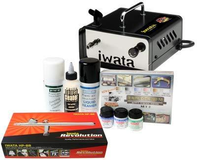 Iwata Modeleller Airbrush Kit mit Ninja Jet Kompressor -