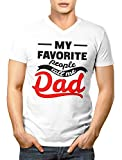 My Favorite People Call Me Dad Herren V-Neck T-Shirt S