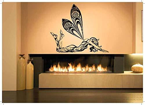 Body wings fata donna adesivo ragazza adesivi camera da letto tattoo vinile rimovibile waterpfoof murale vinilos paredes 51cmx42cm
