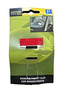 CLIP support pour TICKET de stationnement et Parkings pour Pare-brise