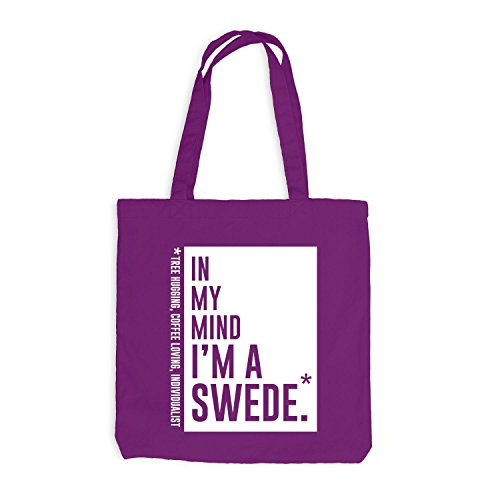 Jutebeutel - In my mind I'm a swede - Style Words Magenta