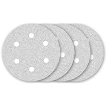 25 Abrasivos blancas con velcro de MENZER para lijadoras de pared - Ø 225 mm - granulado 240 - 6 agujeros