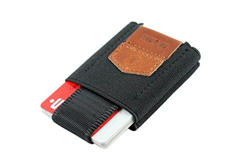 TIDY-ID Smart Wallet / Kartenhalter (Stoff, Leder) (Braun) (Id Wallet Zubehör)