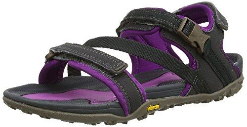 Hi-Tec - Aurora, Sandali da donna, grigio (grey  (charcoal/purple 051)), 37