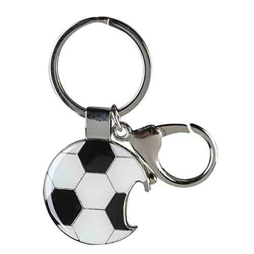 C.a.s.a.b.l.a.n.c.a Schlüsselanhänger Fußball Höhe 7 cm (Nc-schlüsselanhänger)